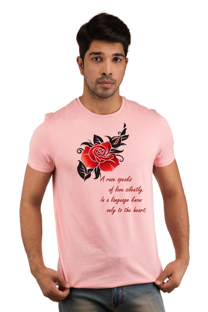 Buy Snoby A Rose Speaks Printed T-Shirts online