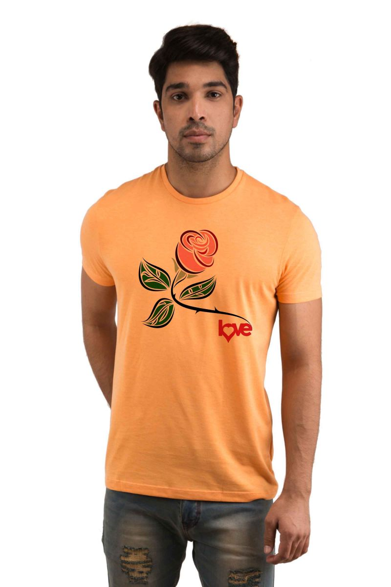 Buy Snoby Rose Love Printed T-shirts online