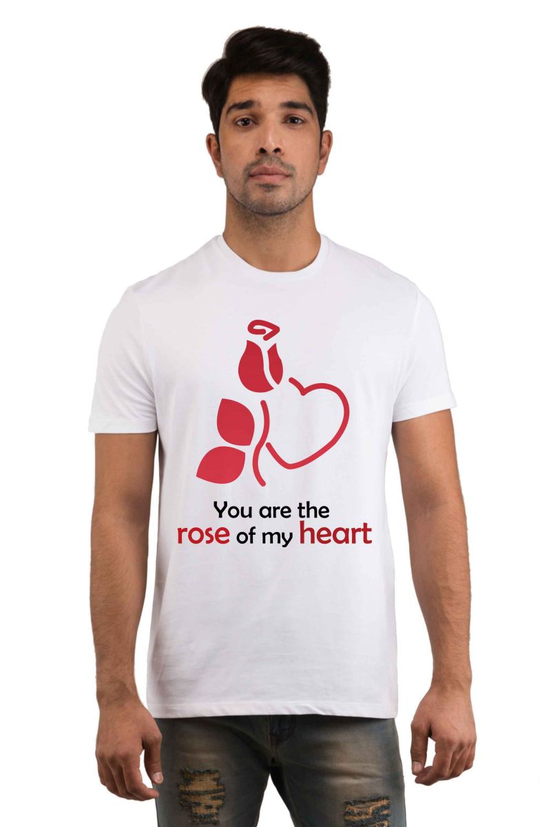 Buy Snoby Rose of my Heart Printed T-shirt online
