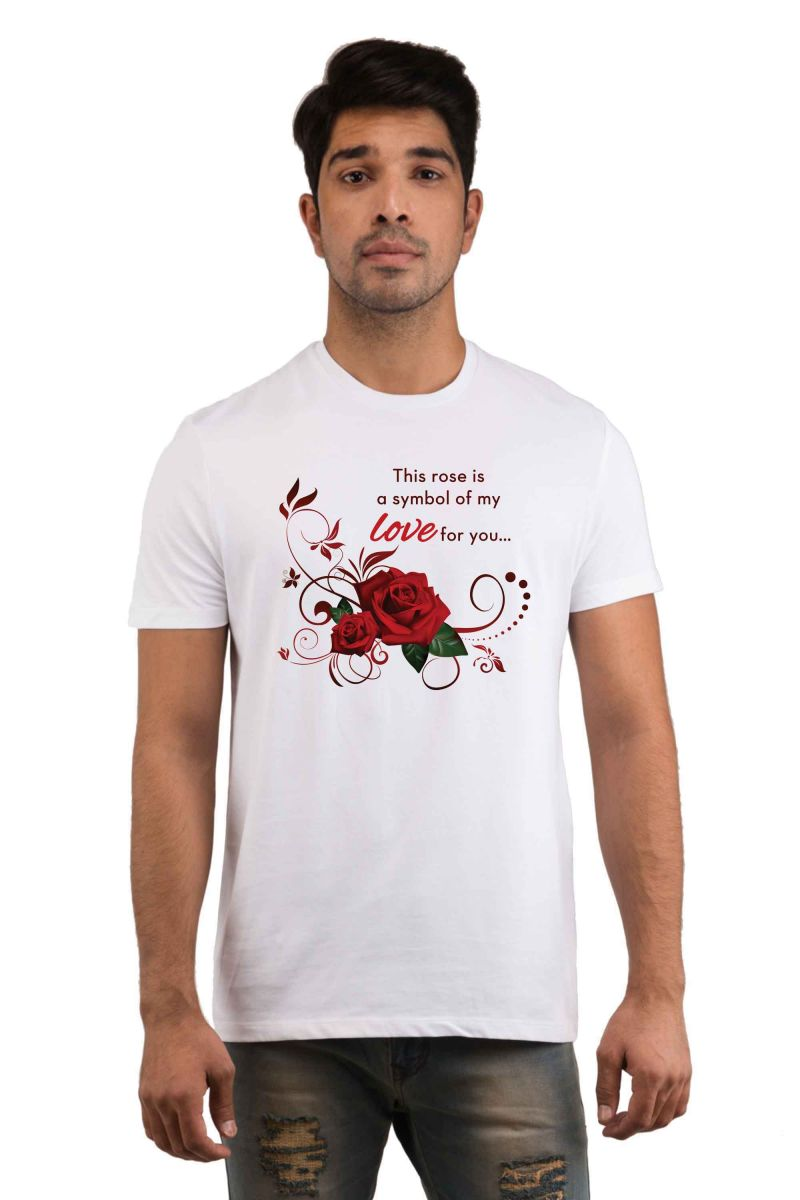 Buy Snoby Rose Love Printed T-Shirt online