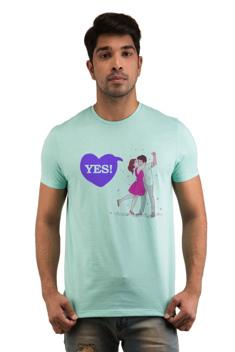 Buy Snoby Yes Printed T-shirt online