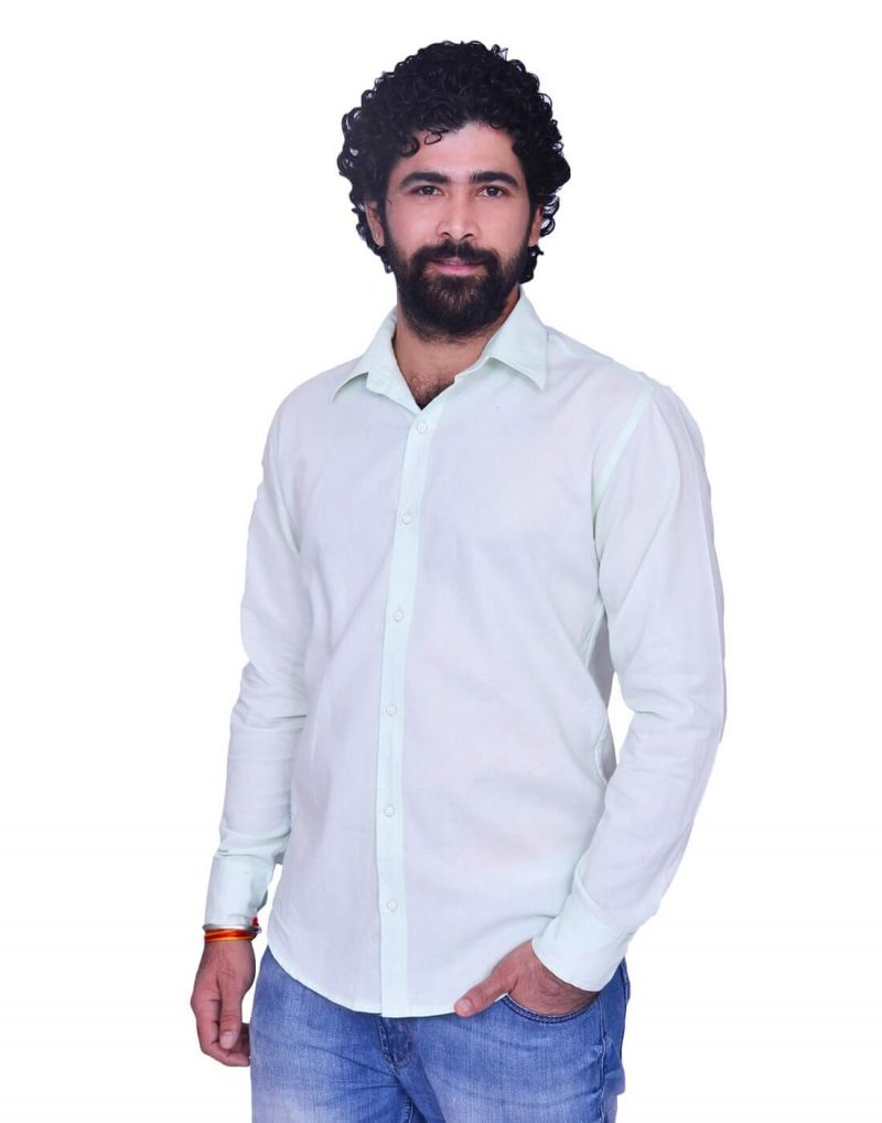 Buy Snoby Long White Button Front Cotton Shirt (sby8000) online
