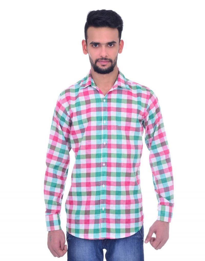 Buy Snoby Casual Cotton Shirt In Multi-tonal (sby8019) online
