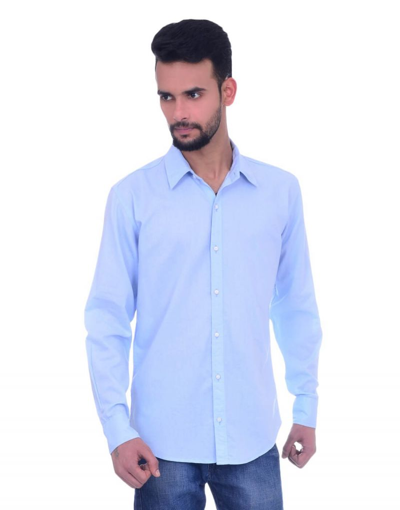Buy Snoby Casual Cotton Shirt In Light Blue (sby8020) online