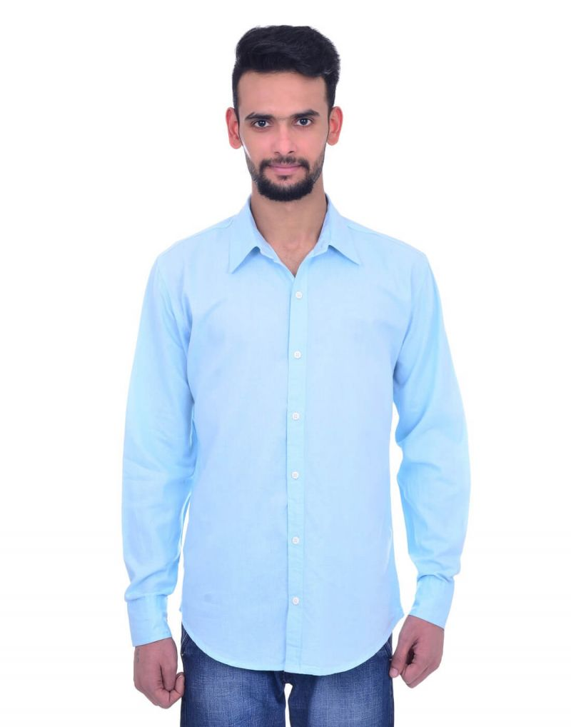 Buy Snoby Casual Cotton Shirt In Sky Blue (sby8027) online
