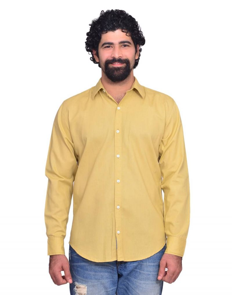 Buy Snoby Yellow Colored Casual Cotton Shirt (sby8034) online