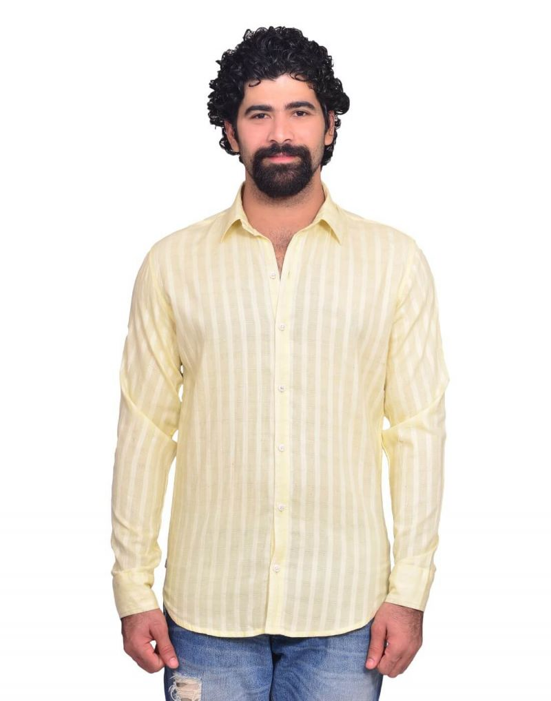 Buy Snoby Cream Colored Casual Cotton Shirt (sby8036) online