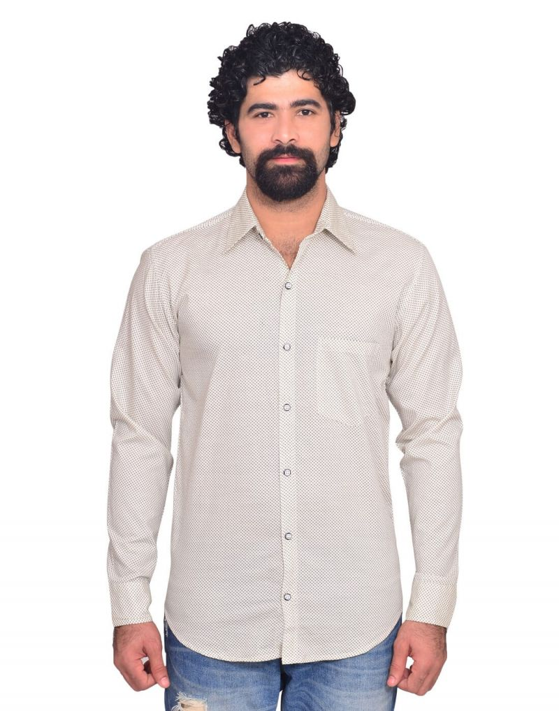 Buy Snoby Light Grey Casual Cotton Shirt online