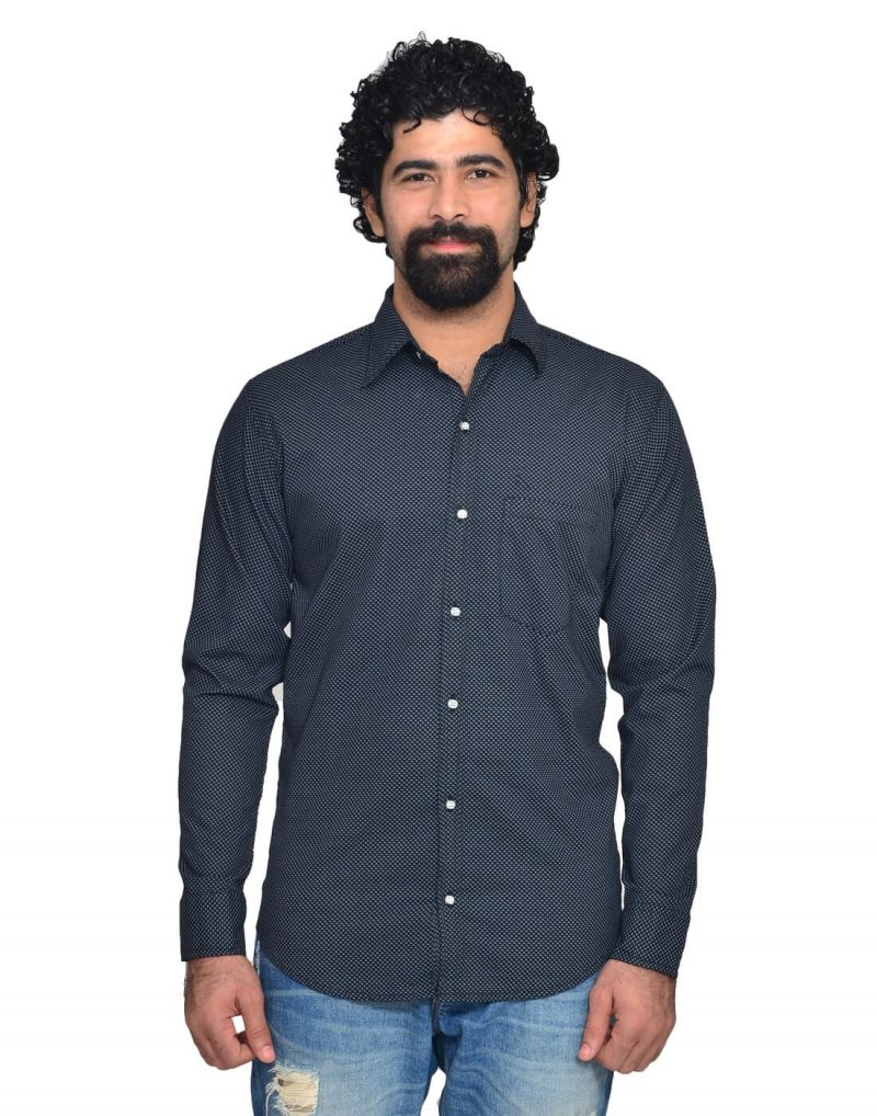 Buy Snoby Dark Grey Casual Cotton Shirt online