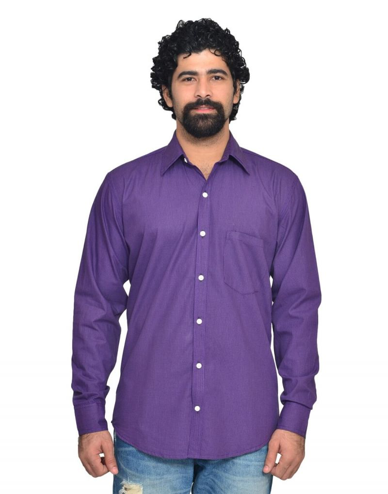Buy Snoby Purple Casual Cotton Shirt (sby8044) online