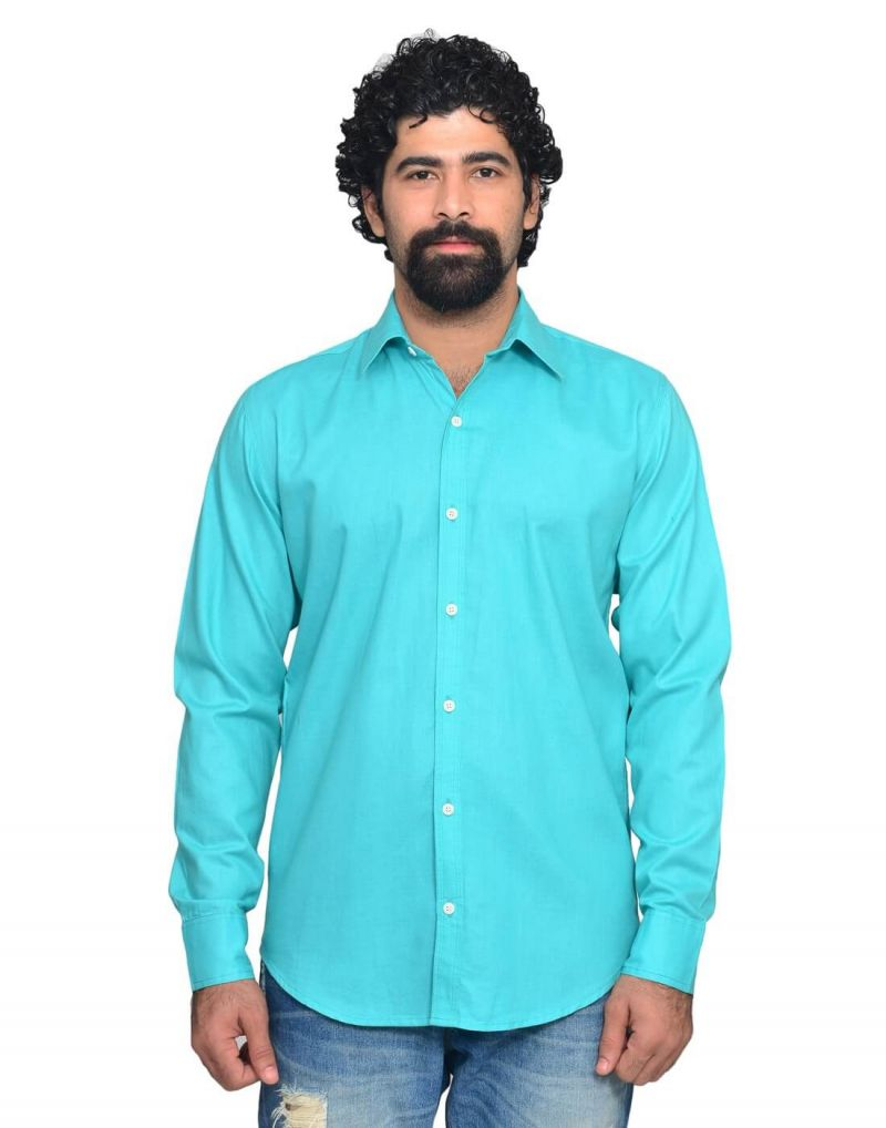 Buy Snoby Light Blue Casual Cotton Shirt (sby8045) online