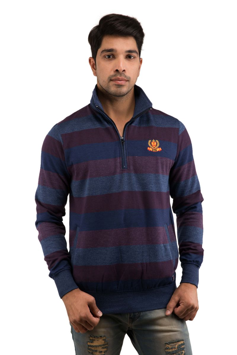 Buy Snoby Blue & Wine Color Sweater (sby9025) online