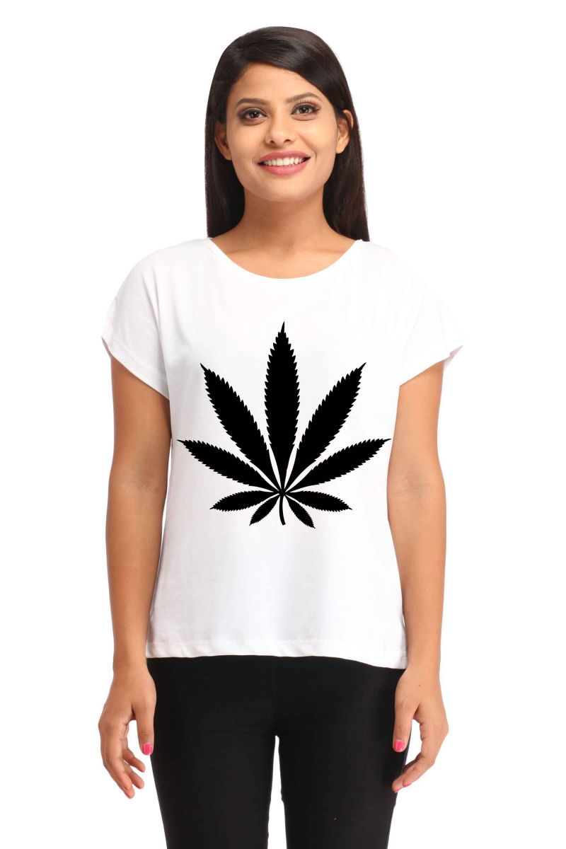 Buy Snoby Leafy Printed T-Shirt online