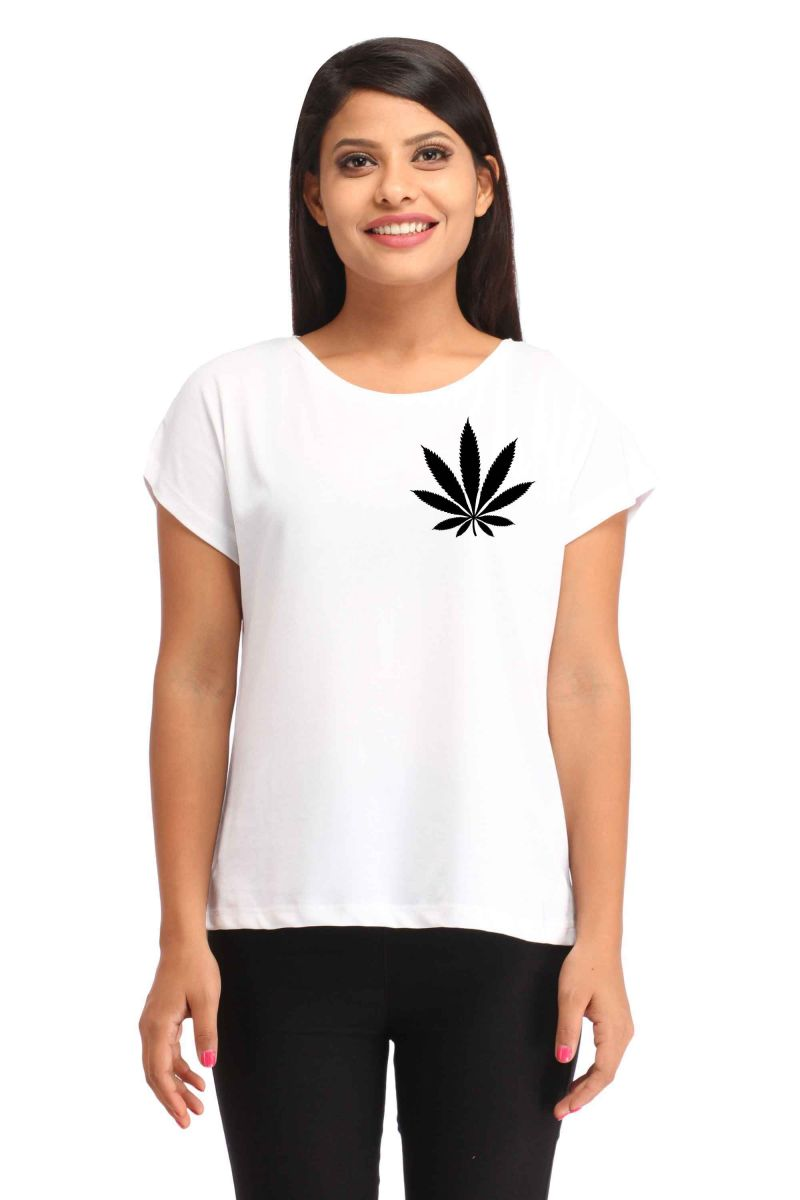 Buy Snoby Weed patch printed t-shirt online