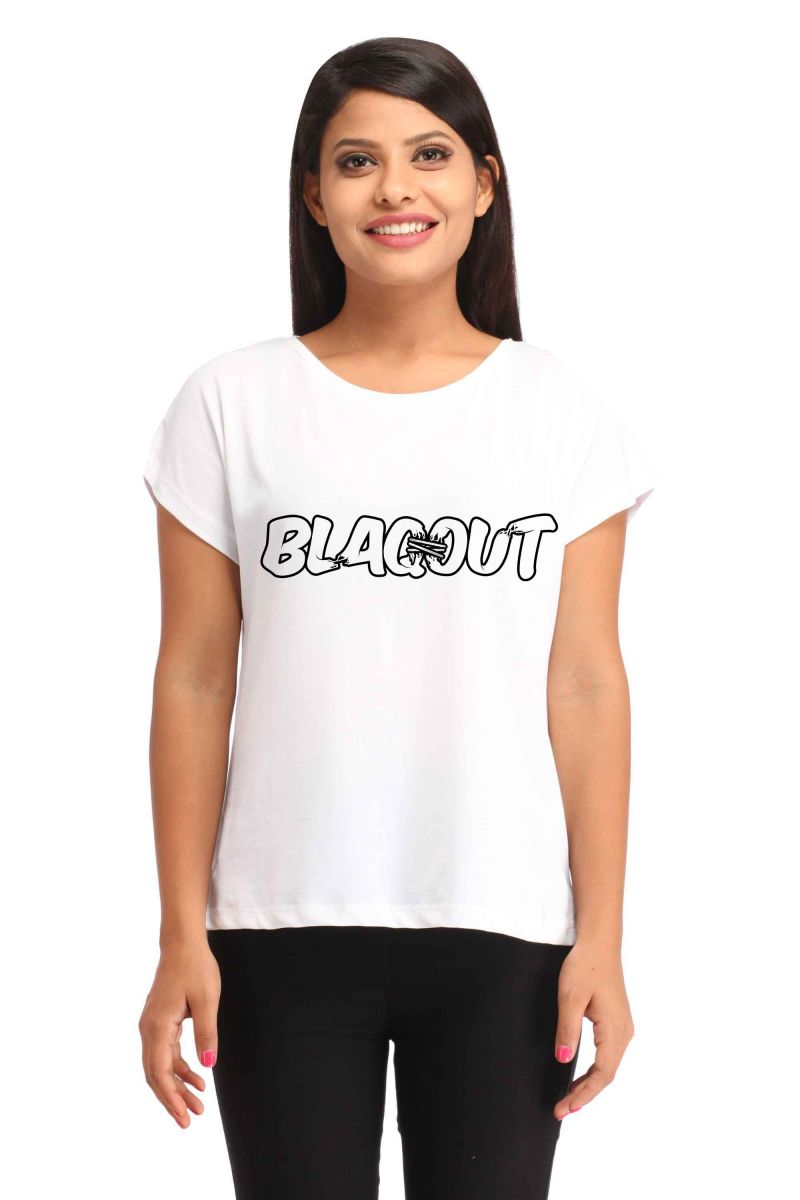 Buy Snoby Blackout Printed T-Shirt online