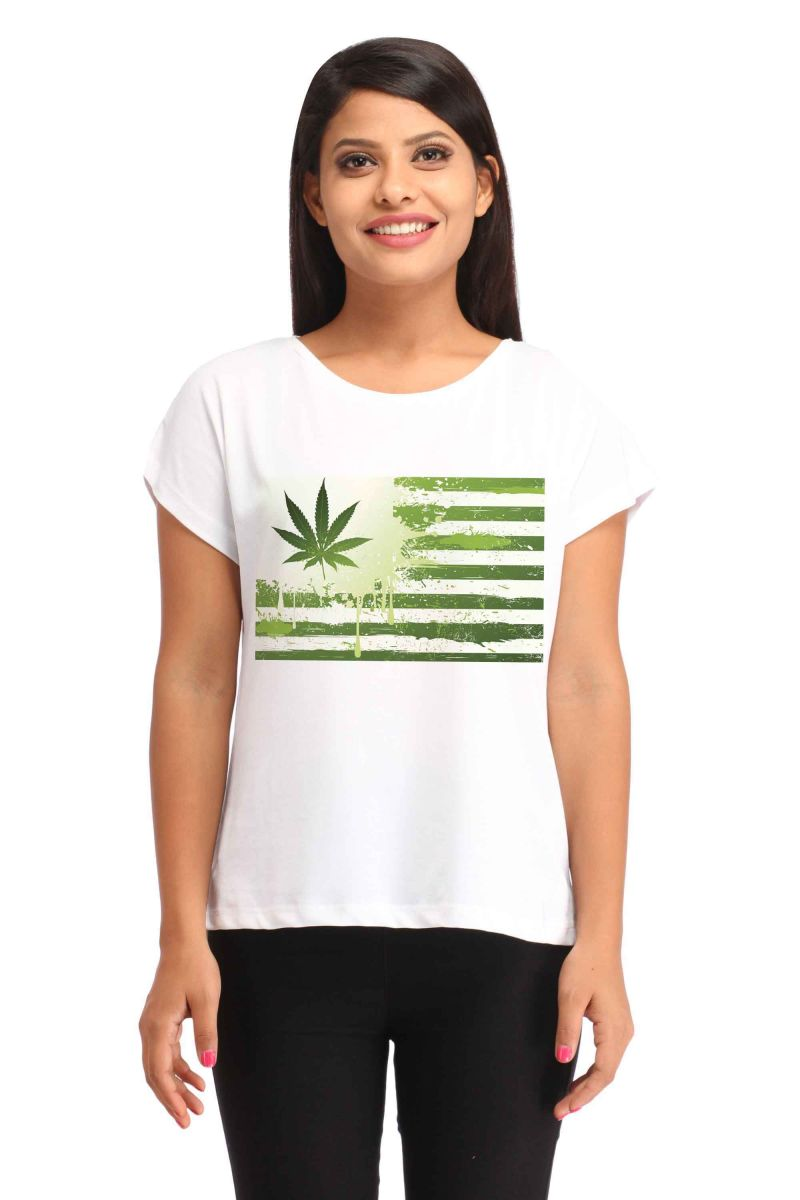 Buy Snoby Green Weed Printed T-shirt (sbypt1734) online