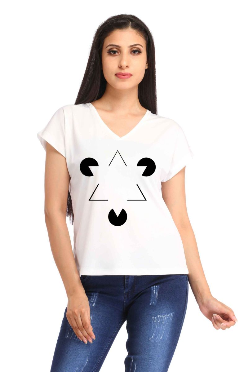 Buy Snoby Double Triangle Print T-shirt (sbypt1875) online