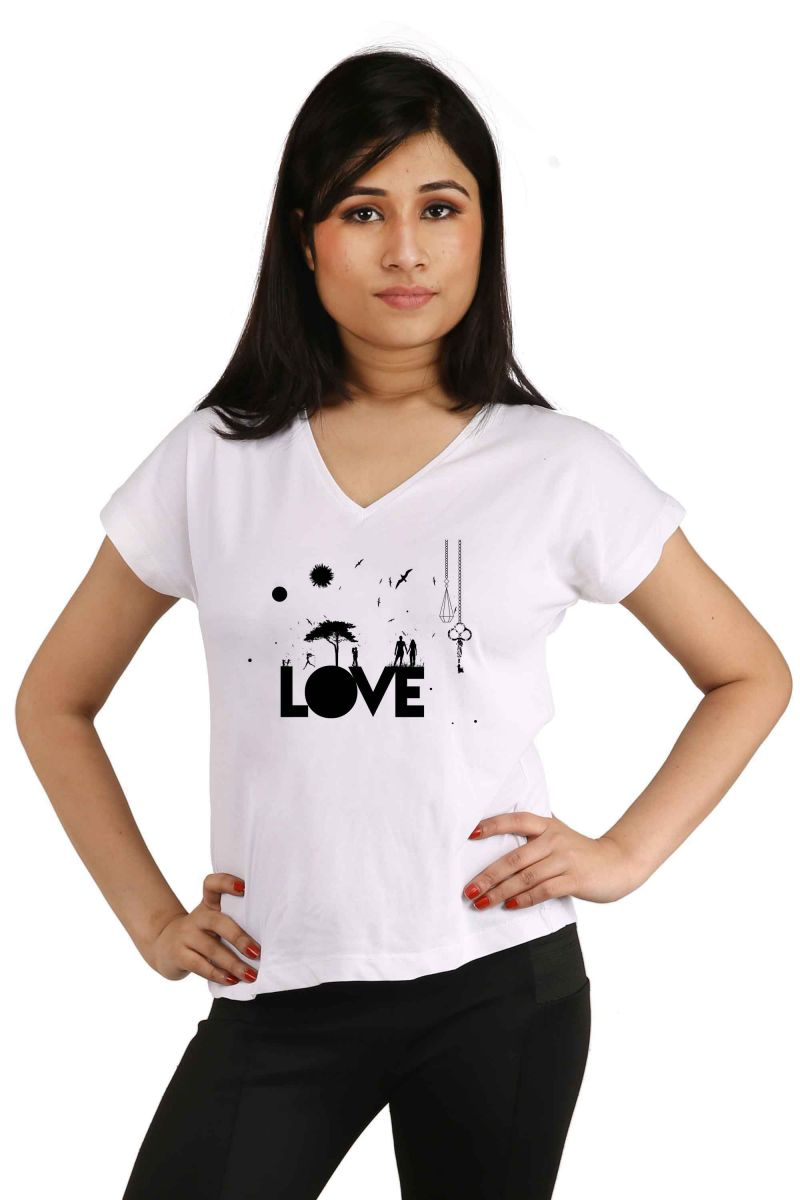 Buy Snoby Love Printed T-shirt (sbypt2047) online
