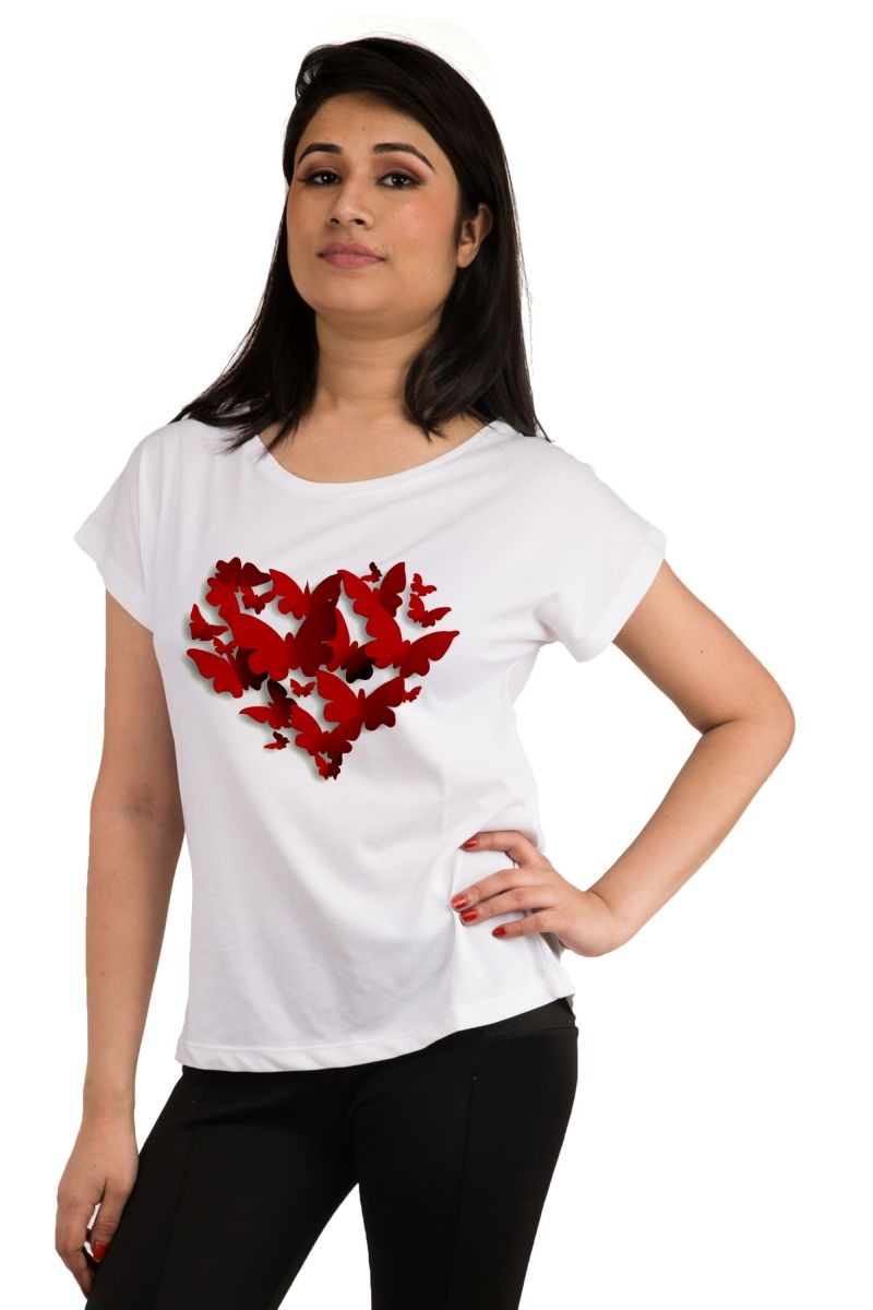 Buy Snoby Heart Printed T-shirt (sbypt2082) online