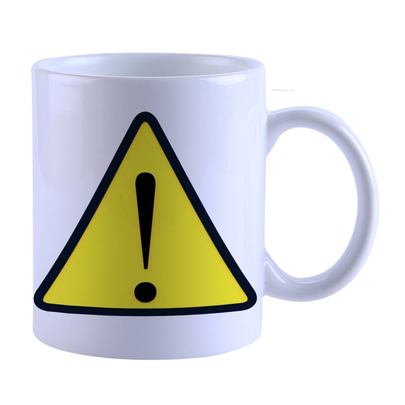 Buy Snoby Caution Sign Printed  Mug online