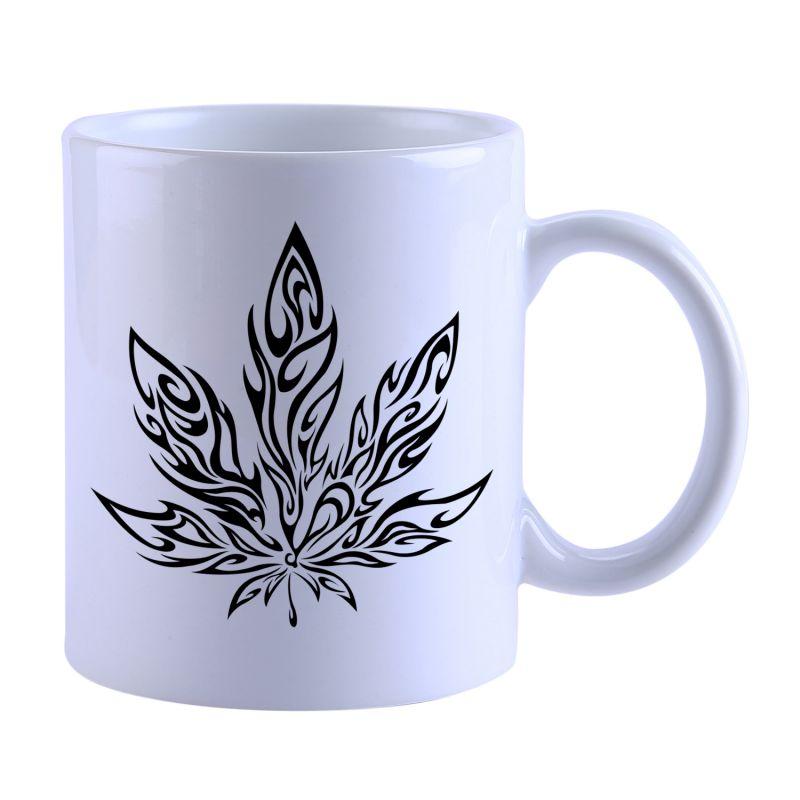 Buy Snoby Weed Leaves Printed Mug(setg_236) online