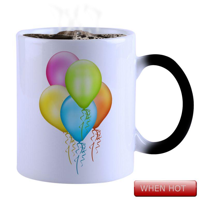 Buy Snoby Magic Mug Black Ceramic Colour Changing Coffee Mug(setg_691) online