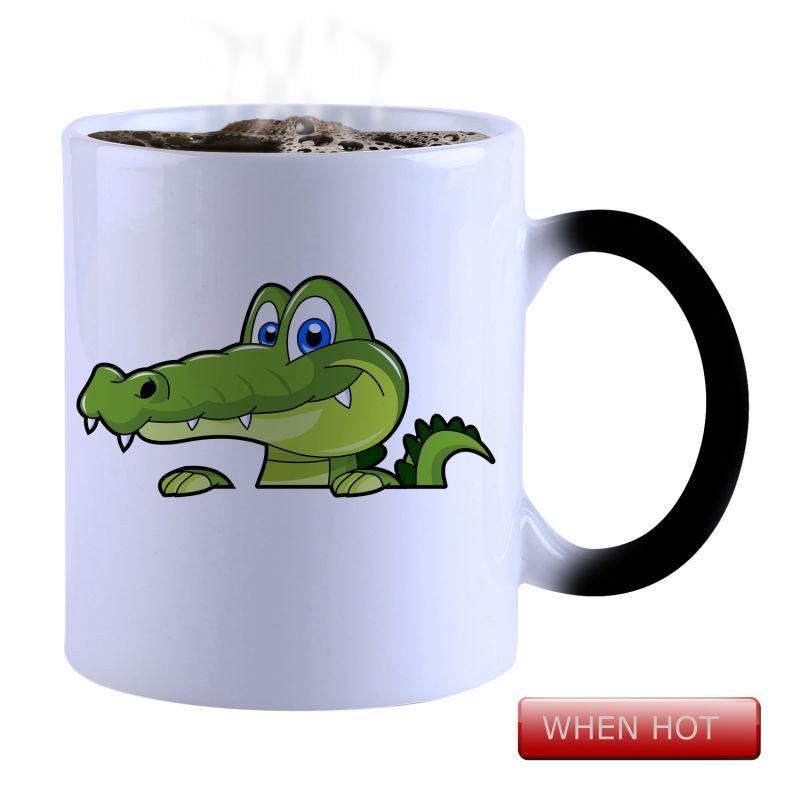 Buy Snoby Magic Mug Black Ceramic Colour Changing Coffee Mug(setg_890) online