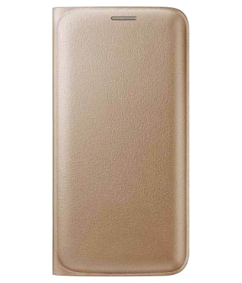 Buy Snoby Leather Flip Cover For Samsung Galaxy On7 (Golden) online