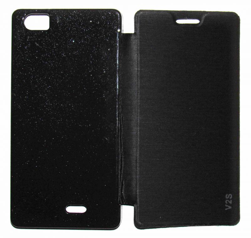 Buy Snoby Artificial Leather Flip Cover For Lava V2S (Black) online
