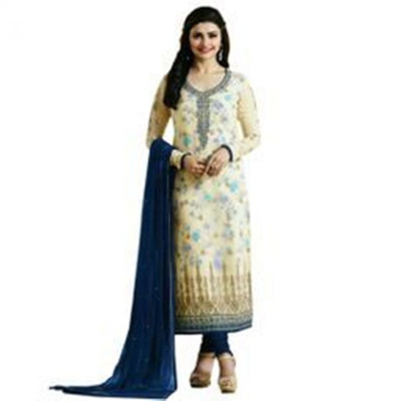 Buy Fashionuma Designer Bollywood Replica Georgette Latest Straight Salwar Suit online