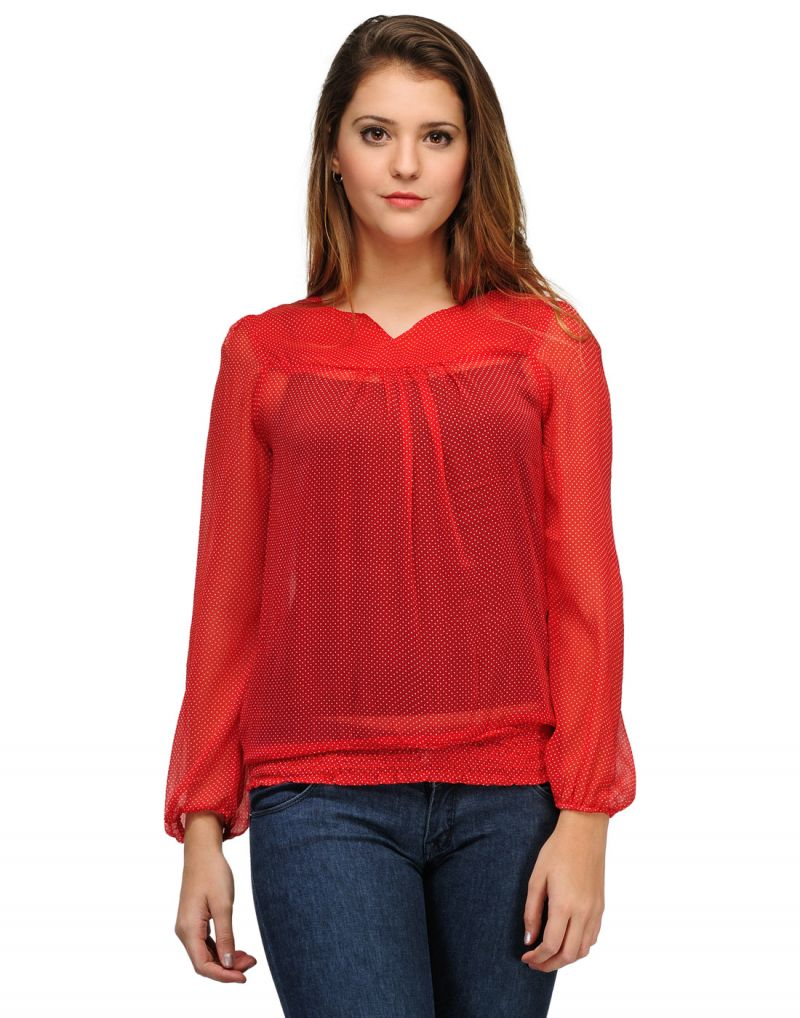 Buy Sportelle Usa India Chiffon Printed Top_7128_ online