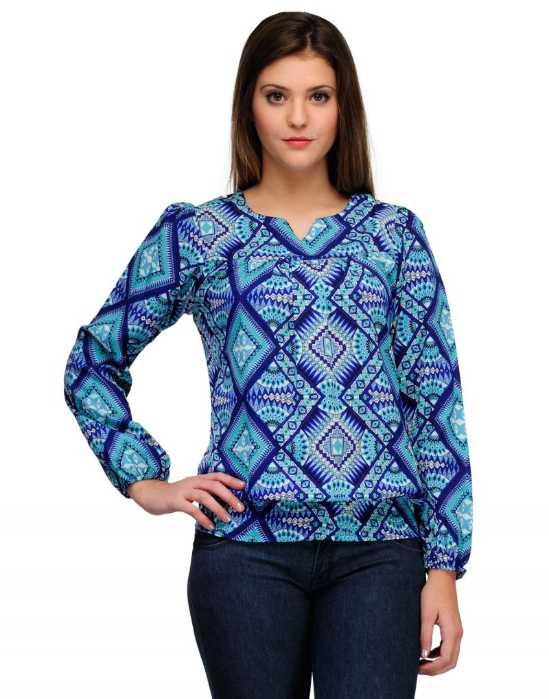 Buy Sportelle Usa India Chiffon Printed Top online