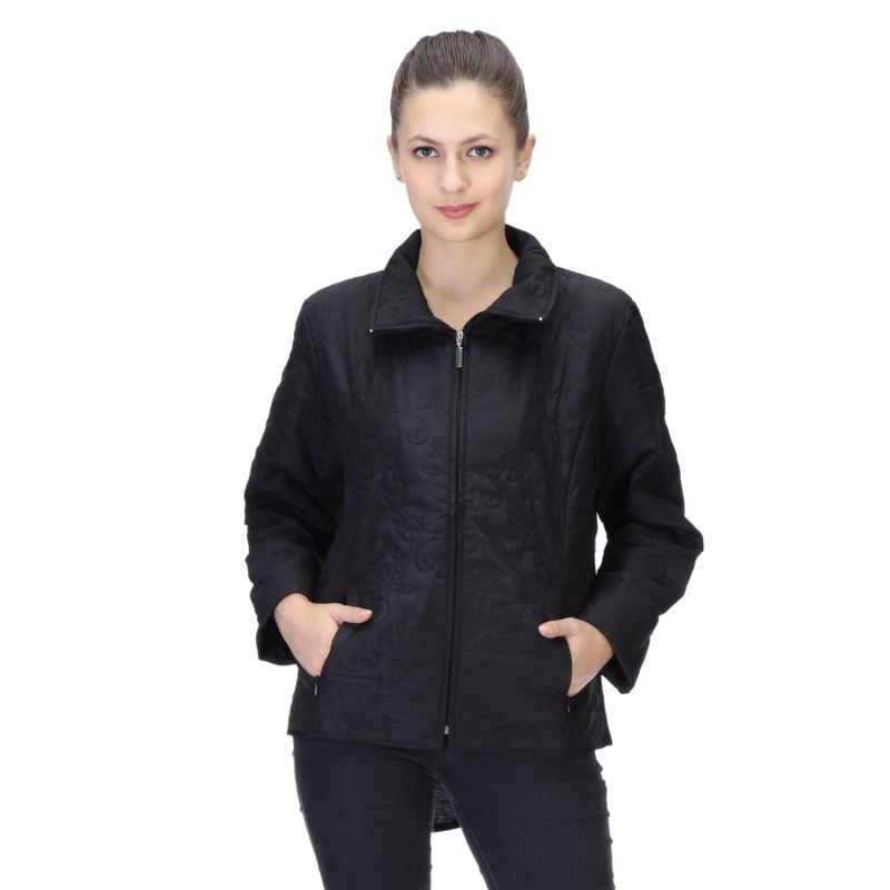 Buy Le Fashionelle Full Sleeves Stylish European Winter Jacket With High Grade Polyfill For Women's/girl's- Lf-bjacket-102 online