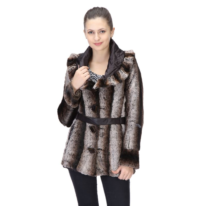 16f62403a53 Le Fashionelle Full Sleeves Stylish European Winter Jacket With High Grade  Polyfill For Women s girl s. 20%