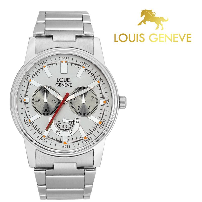 Buy Louis Geneve White Metal Watch For Men_(product Code)_lg-mw-ss-white-037 online