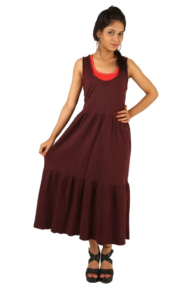 Buy Indricka Maroon Color Dress For Women. online