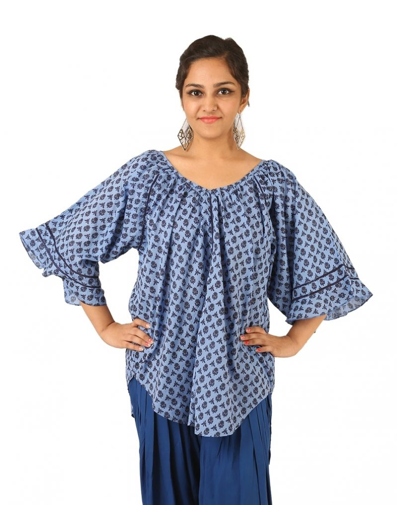 Buy Indricka Blue Color Top For Women. online