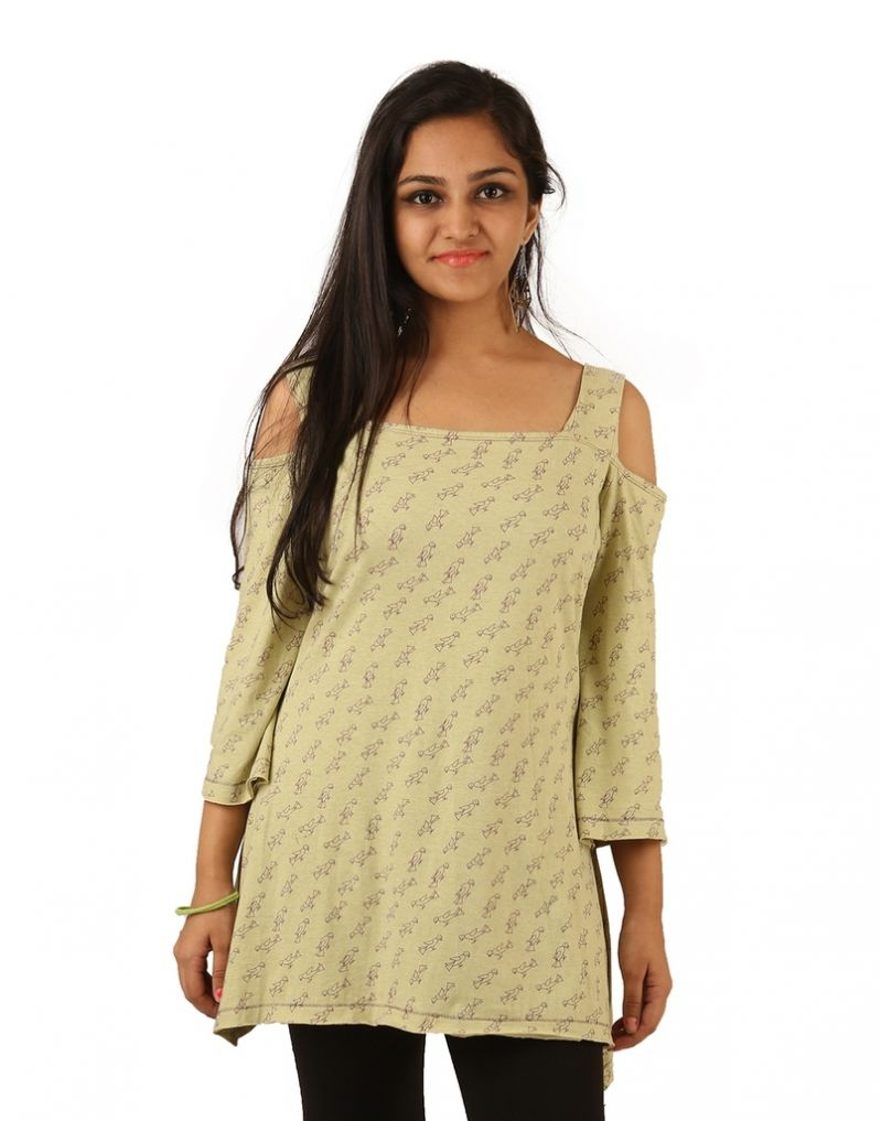 Buy Indricka Green Color Top For Women. online