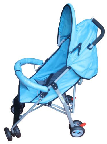 Buy Mankoose Comfort Baby Stroller Foldable Blue Detachable Canopy 7-36 Months online