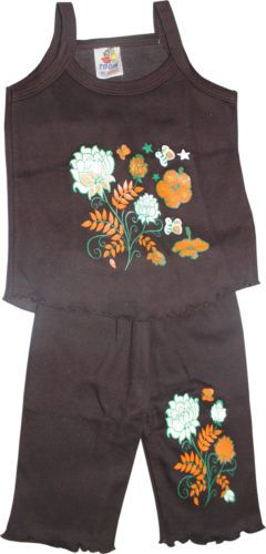Buy Girls Dress Set Top & Pant Brown Color online