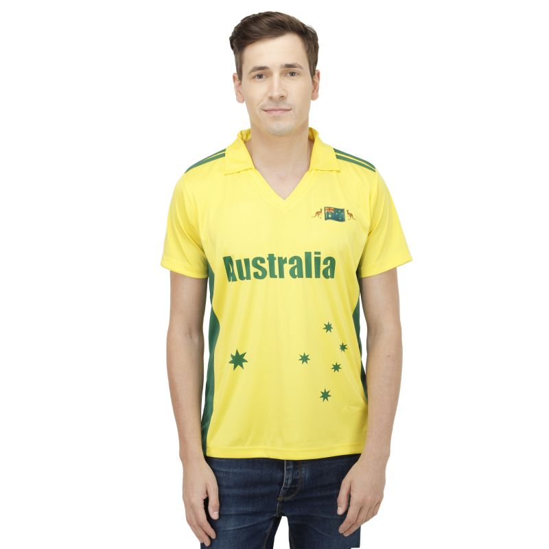 Buy T10 Sports Microfiber Multicolor Australia Fan Jersey T Shirt For Men online