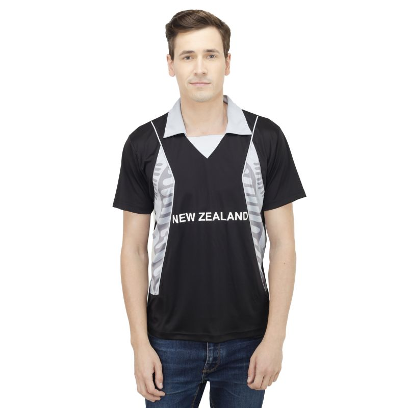 Buy T10 Sports Microfiber Multicolor Newzeland Fan Jersey T Shirt For Men online