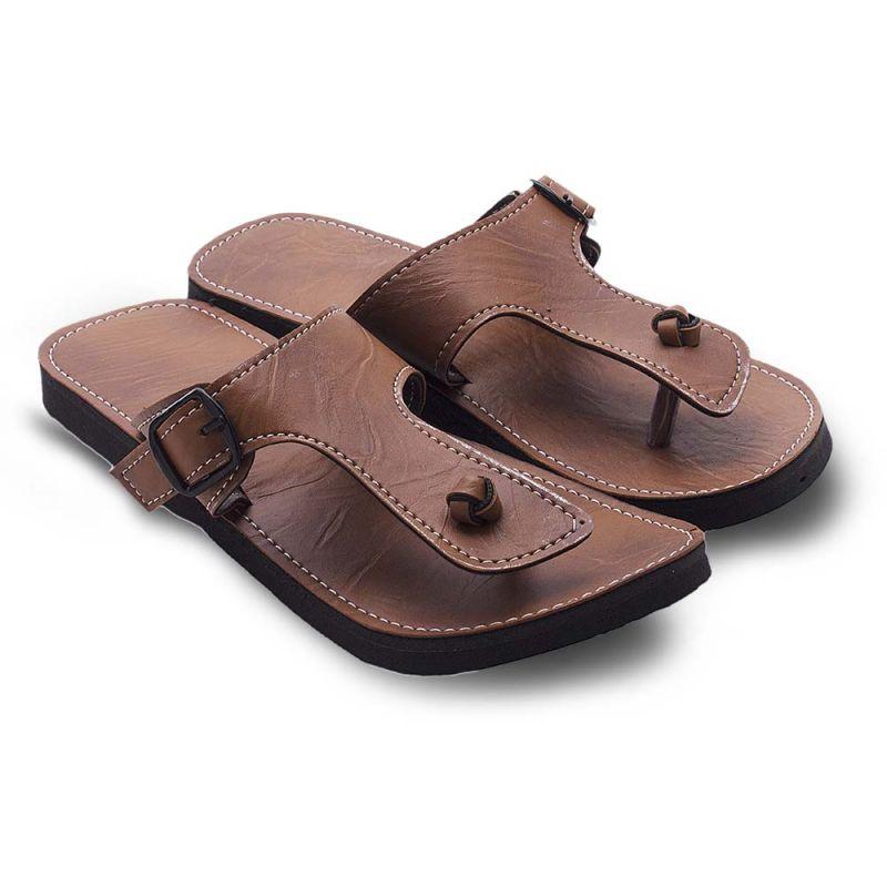 Buy Men Buckle Design Lightweight Ethnic Mojri Chappal 206 online