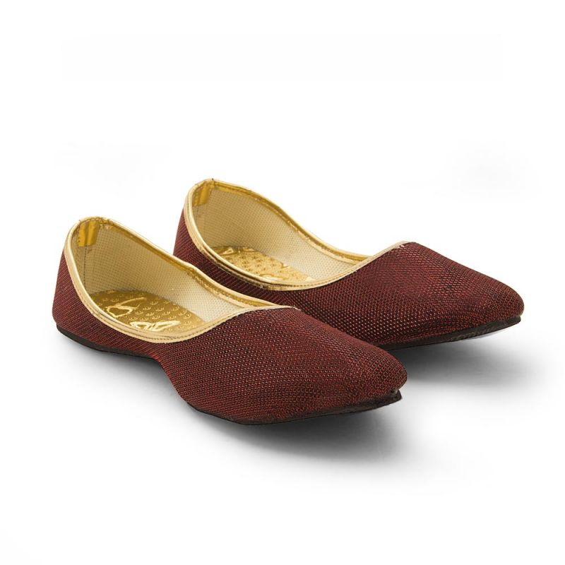 Buy Women Traditional Stylish Maroon Ballerina Sandals online