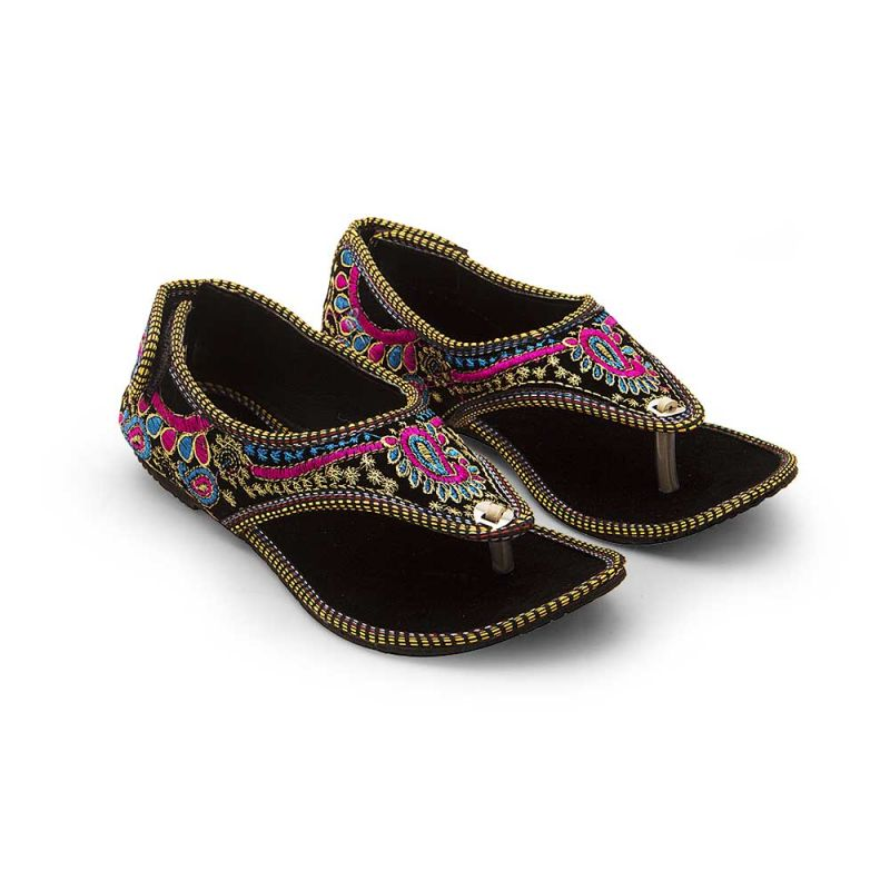 Buy Women Jaipuri Fancy Resham Work Embroidery Sandals online