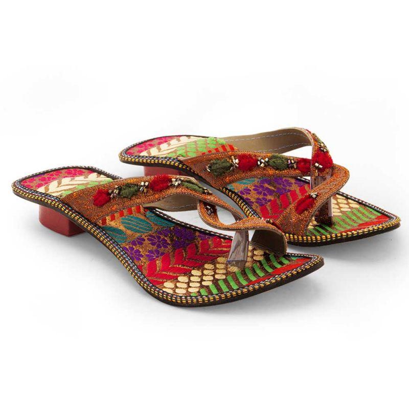 Buy Women Fancy Design Comfortable High Heel Chappal 337 online