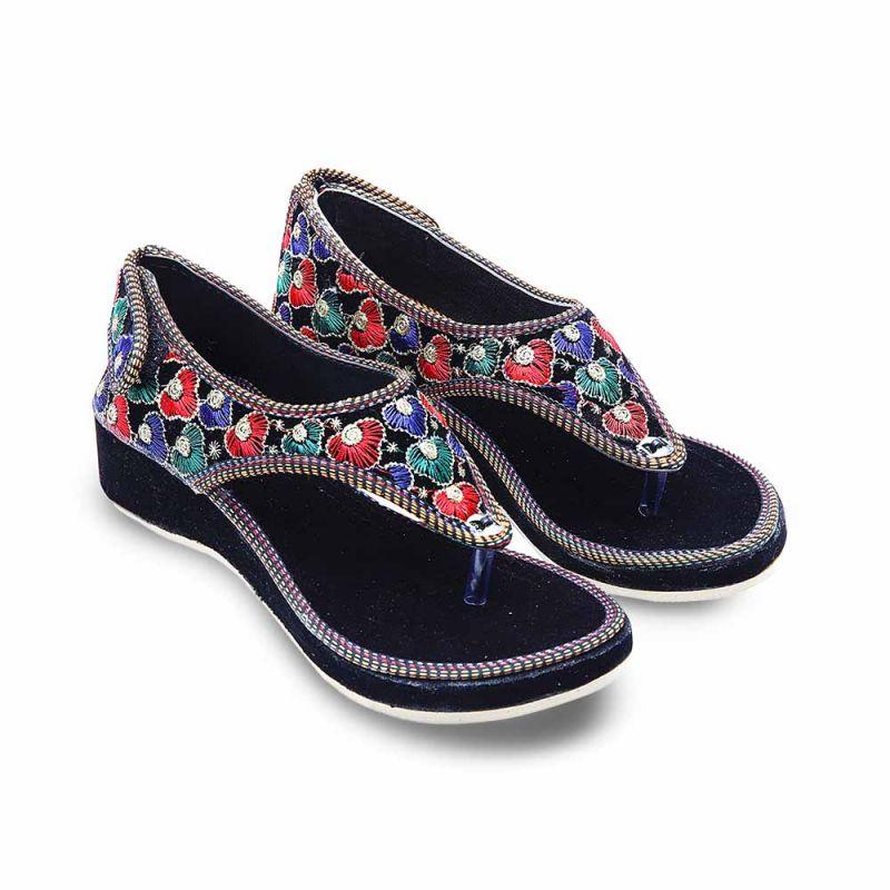 Buy Women Stylish Design Velvet Flat Ballerina Sandals 354 online