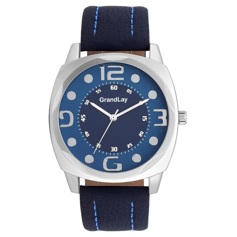 Buy Grandlay Mg-3034 Blue Dial Watch For Menz online