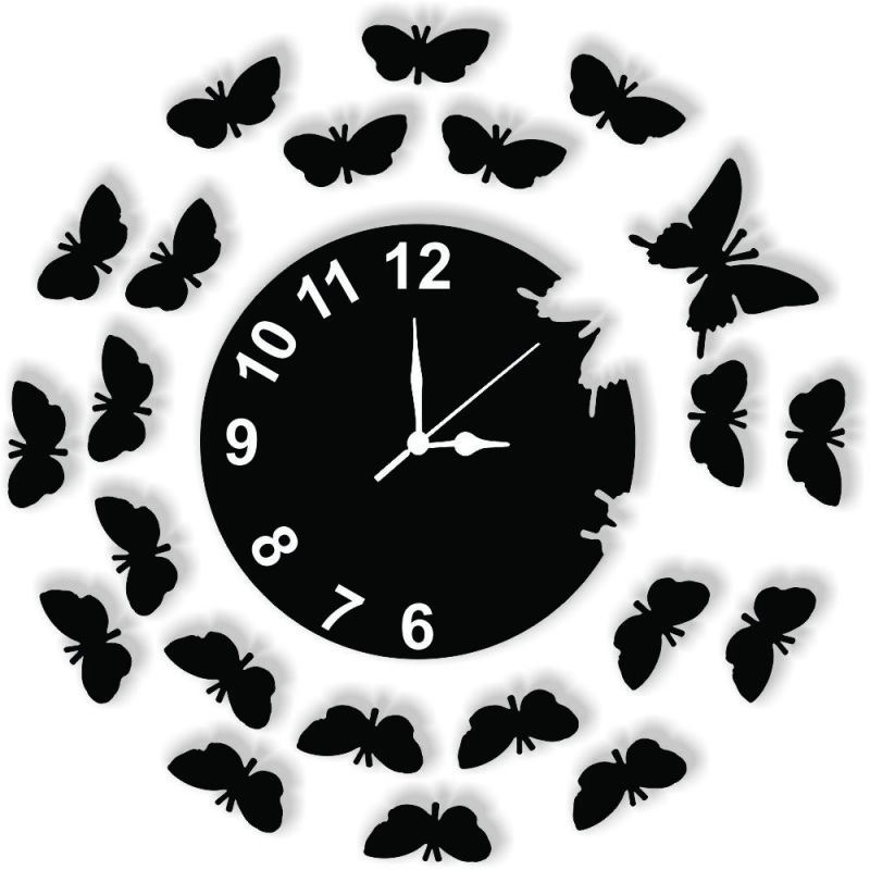 Buy Enamel Designer Black Wall Clock online