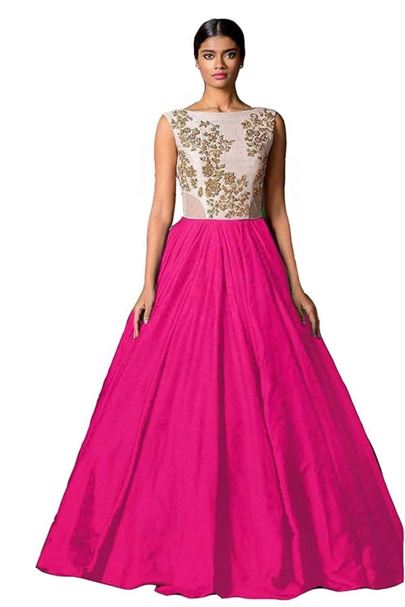 Buy Style Amaze Bollywood Designer Silk Rani Pink Color Party Wear ...